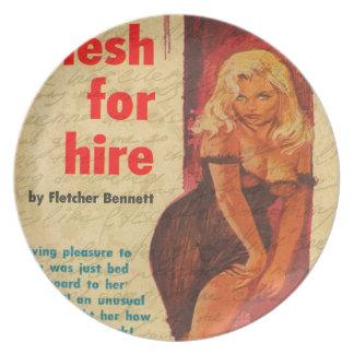 Vintage girl melamine plate