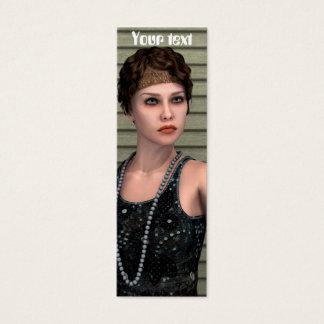 Vintage Girl Mini Business Card