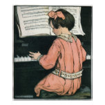 Vintage Girl, Music, Piano, Jessie Willcox Smith Posters