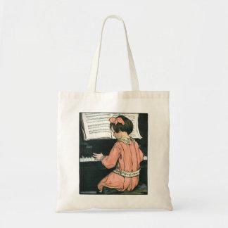 Vintage Girl, Music, Piano, Jessie Willcox Smith Tote Bag