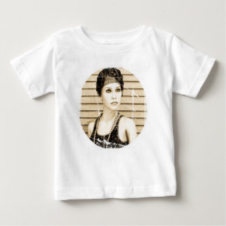 Vintage Girl, Old Photo Effect Baby T-Shirt