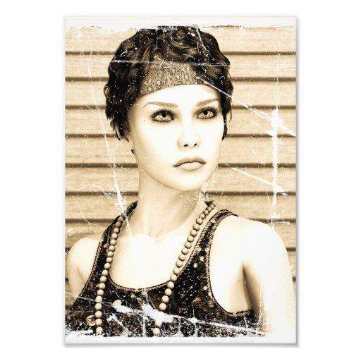 Vintage Girl, Old Photo Effect
