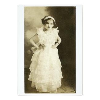 Vintage Girl Portrait Card