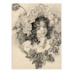 Vintage Girl Post Card