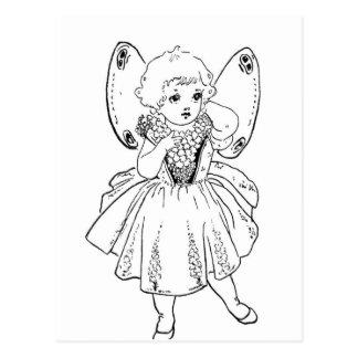 vintage girl postcard