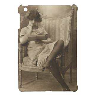 Vintage Girl Reading a Book Cover For The iPad Mini