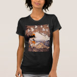 Vintage Girl Reading Under a Tree Tee Shirt
