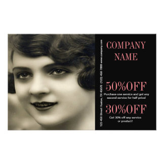 vintage girl SPA beauty makeup artist hair salon Flyer