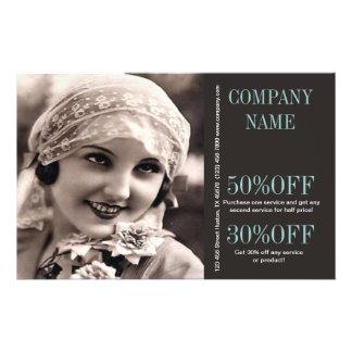 vintage girl wedding photographer makeup artist flyer