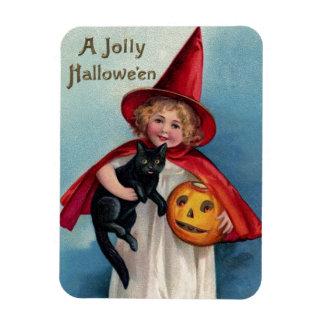 Vintage Girl Witch Magnet