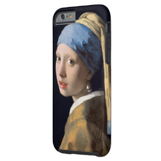 Vintage Girl with a Pearl Earring Tough iPhone 6 Case