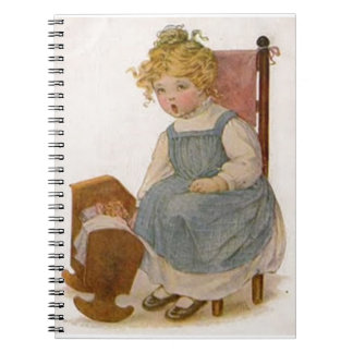 Vintage Girl with Baby Doll Notebook