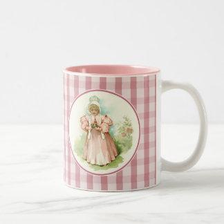 Vintage Girl with Chicks. Easter Gift Mug