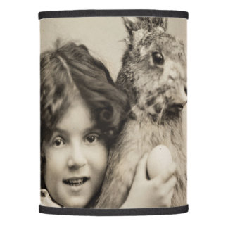 Vintage girl with giant Easter bunny Lamp Shade