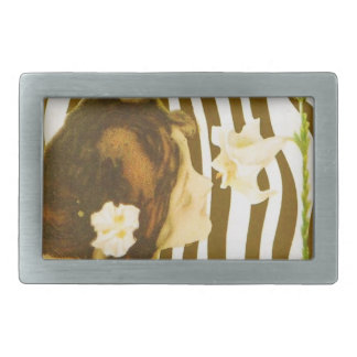 Vintage Girl with Sun and Flower Belt Buckle