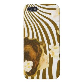Vintage Girl with Sun and Flower iPhone 5 Case