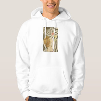 Vintage Girl with Sun and Flowers Hoodie