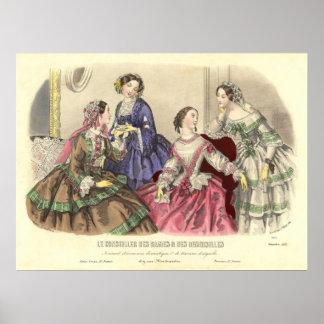 Vintage Girlfriends by Anais Toudouze Print