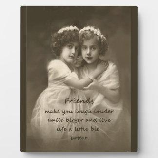 Vintage Girlfriends Friendship Quote Photo Plaques