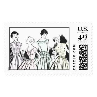 Vintage Girlfriends Stamp by Loralee Lewis