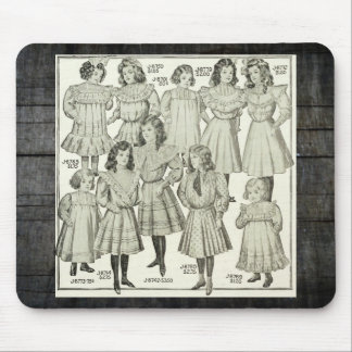 Vintage Girls Dresses, Canadian Catalog 1907 Mouse Pad