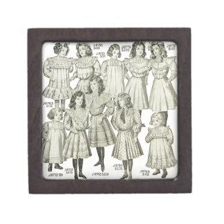 Vintage Girls Dresses, Canadian Catalog 1907 Premium Jewelry Boxes