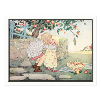 Vintage Girls in Orchard by H. Willebeek Le Mair Postcard
