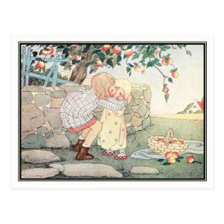 Vintage Girls in Orchard by H. Willebeek Le Mair Postcard