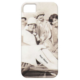 Vintage Girls in Row Boat 1920s iPhone5 Case