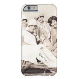 Vintage Girls in Row Boat 1920s Personalized Barely There iPhone 6 Case