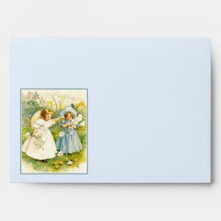 Vintage Girls with Chicks. Easter Envelopes