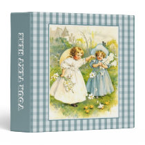 Vintage Girls with Chicks Gift Binders