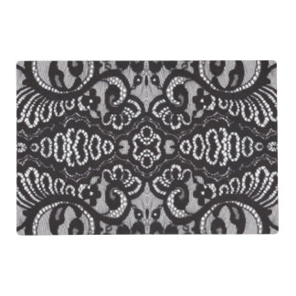 vintage girly black floral boho chic lace placemat