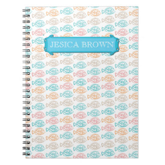 Vintage Girly Colorful Fishes Personal Journal