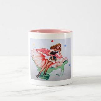 Vintage Girly Fabric Mug