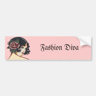 Vintage Girly Girl Bumper Sticker