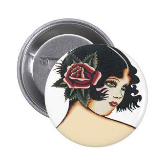 Vintage Girly Girl Pinback Button