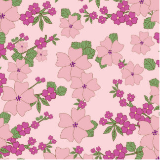 Vintage Girly Pink Cute Floral Pattern Photo Cutout