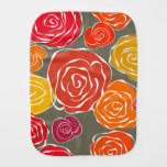 Vintage girly roses floral pattern burp cloth
