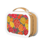 Vintage girly roses floral pattern yubo lunch boxes