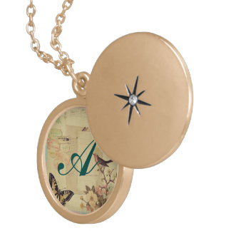 Vintage,girly,whimsical,cute,collage,shabby chic locket