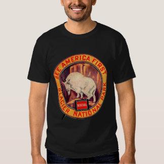Vintage Glacier National Park See America First Shirts