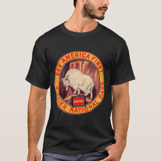 Vintage Glacier National Park See America First T-Shirt