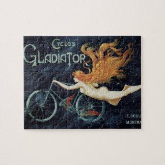 Vintage Gladiator Cycles, Victorian Art Nouveau Puzzles