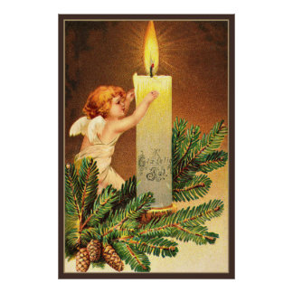 Vintage, Glaedelig, 1906 Norwegian postcard Poster