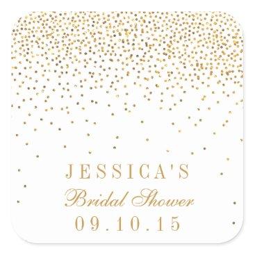 Invitation_Republic Vintage Glam Gold Confetti Bridal Shower Stickers