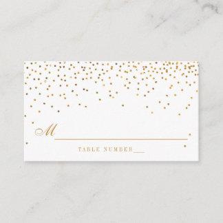 Vintage Glam Gold Confetti Wedding Escort Cards