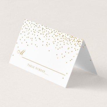 Invitation_Republic Vintage Glam Gold Confetti White Wedding Place Card