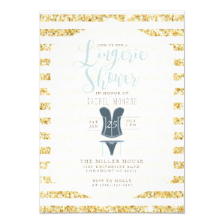 Vintage Glam Lingerie Shower Invite