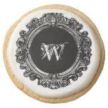 Vintage Glam Monogram Cookie